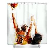 Kareem Abdul Jabbar N B A Legend Shower Curtain