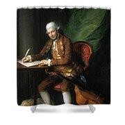 Karl Friedrich Abel (1725-1787) Shower Curtain