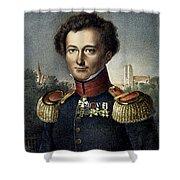 Karl Von Clausewitz (1780-1831) Shower Curtain
