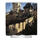 Karlstejn Castle Color Shower Curtain