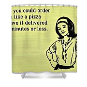 Karma Like Pizza Shower Curtain