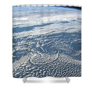 Karman Vortex Cloud Streets From Space Shower Curtain