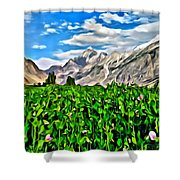 Kashmir Field Shower Curtain