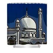 Kashmir Mosque 2 Shower Curtain