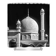 Kashmir Mosque Monochrome Shower Curtain by Steve Harrington