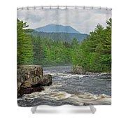 Katahdin And Penobscot River Shower Curtain