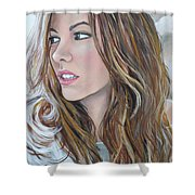 Kate Beckinsale Shower Curtain