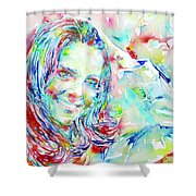 Kate Middleton Portrait.1 Shower Curtain