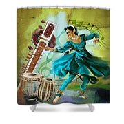 Kathak Dancer 4 Shower Curtain