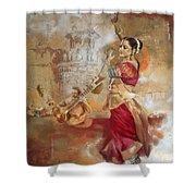 Kathak Dancer 8 Shower Curtain