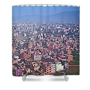 Kathmandu From The Airplane-nepal  Shower Curtain