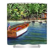 Kathy's Boat Shower Curtain