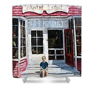 Katie At Bass Harbor Maine Shower Curtain by Lee Piper