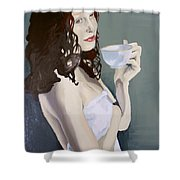 Katie - Morning Cup Of Tea Shower Curtain