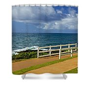 Kauai Beach - Morning Storm Shower Curtain