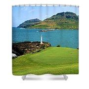 Hokuala - Ocean Course - Hole 16 Shower Curtain