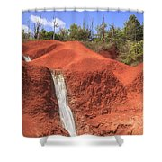 Kauai Red Dirt Waterfall Shower Curtain