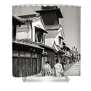 Kawagoe Bell Tower Shower Curtain