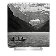 Kayak On Lake Louise Shower Curtain