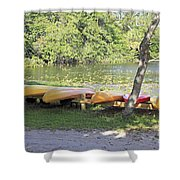 Kayak Rentals Shower Curtain