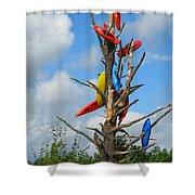 Kayak Tree Shower Curtain