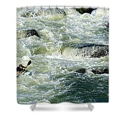 Kayaker Shower Curtain