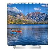 Kayaking Grand Lake Shower Curtain