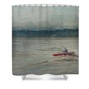 Kayaking In Port Dover Shower Curtain