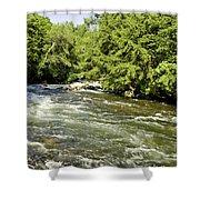 Kayaking On Gull River Shower Curtain