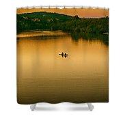 Kayaking On Lady Bird Lake Shower Curtain