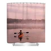 Kayaking On Starrett Lake At Sunrise Shower Curtain