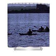 Kayaking Stonington Shower Curtain