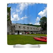 Kayaks At Boat House Shower Curtain