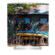 Kayaks Surfboards And Bikes - The Good Life Shower Curtain