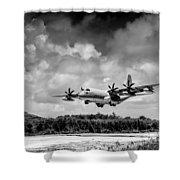 Kc-130 Approach Shower Curtain