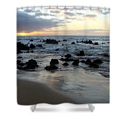 Keawakapu Kahaulani Maui Sunset Shower Curtain