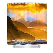 Ke'e Beach Sunset Shower Curtain