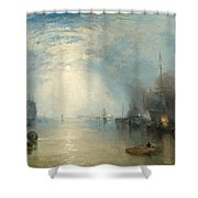 Keelmen Heaving In Coals By Moonlight Shower Curtain by Joseph Mallord William Turner