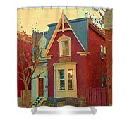 Keep A Light In The Window Til I Come Home Again Winter House Pointe St Charles City Scene Cspandau  Shower Curtain