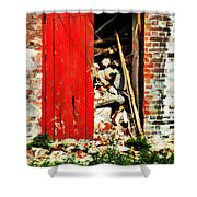 Keep All Fire Exits Clear Shower Curtain