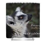 Keep Looking Up Shower Curtain