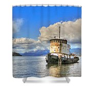 Keep Off Old Ship Shower Curtain