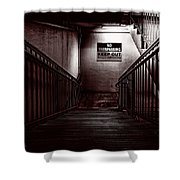Keep Out Danger Of Drowning Shower Curtain by Bob Orsillo