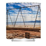 Keep Out No Playing Here Swing Set Playground Shower Curtain