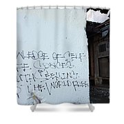 Keep The World Free Shower Curtain