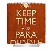 Keep Time And Paradiddle Poster Shower Curtain