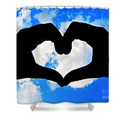 Keep Your Heart In The Clouds Shower Curtain