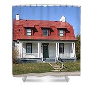 Keeper's House - Presque Isle Light Michigan Shower Curtain