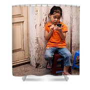 Keeping In Touch Shower Curtain