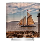 Keeping Vessels Safe Shower Curtain by Karol Livote